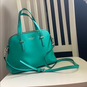 coral blue/green purse Kate spade